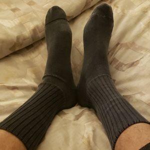 Used grey socks